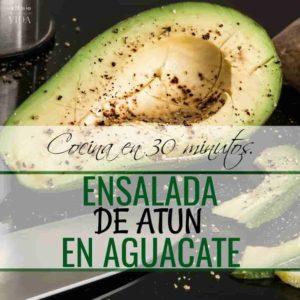 Como preparar Ensalada de Atún en Aguacate.